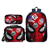 Marvel Spiderman Far From Home 3D Design Three-piece Suit School Backpack With Lunch Bag and Pencil Bag Set