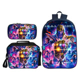 Marvel The Avengers Hero Print School Bag Backpack With Lunch Bag and Pencil Bag Set For Kids