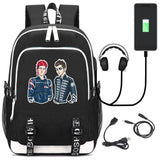 Twenty One 21 Pilots Students Backpack Schoolbag With USB Charging Port For Teens Boys Girls