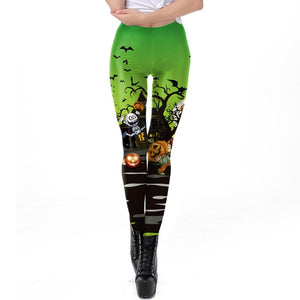 Halloween Leggings  Halloween Night Print  Leggings