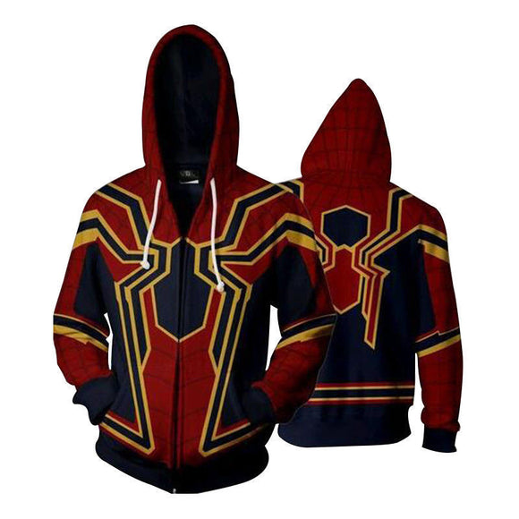 Marvel Spiderman Iron Spiderman Hoodies Jacket for Adults and Youth