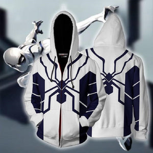 Marvel Future Foundation Spider-Man Zip Up Hoodies Jacket for Adults and Youth