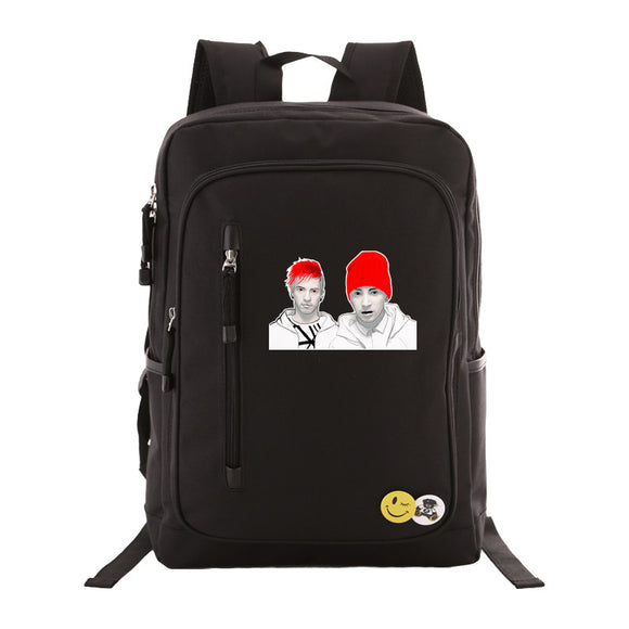 Twenty One 21 Pilots Students Backpack  Rucksuck Schoolbag Bookbags Teens Boys Girls