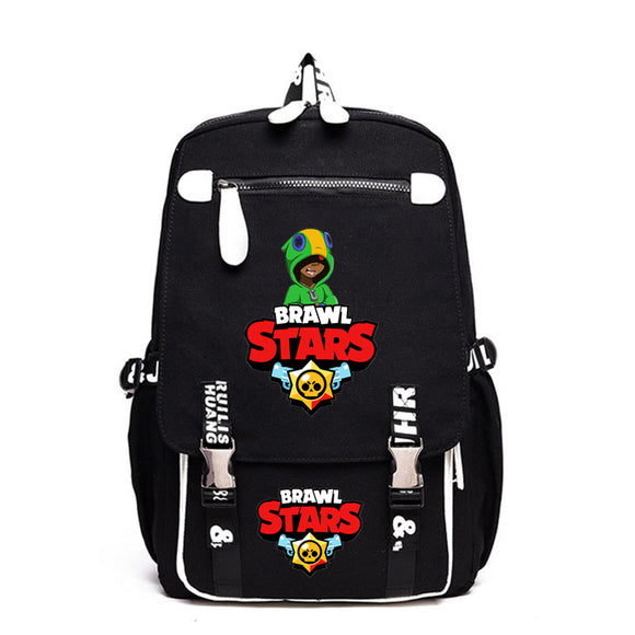 Brawl Stars  Rucksuck School Polyester Backpack Students Day Bag