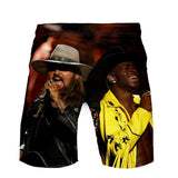 Lil Nas X Color Print Shorts Sweatpants Beach Shorts