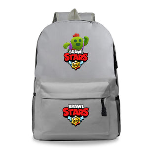 Brawl Stars Teens Kids School Polyester Backpack