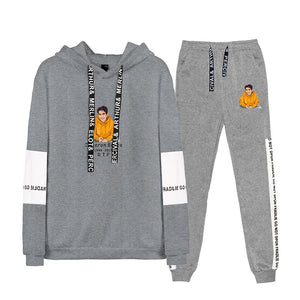 Cameron Boyce Youth Teens Fashion Pull Over Hoodie And Sweatpants Yellow Print Suit Set