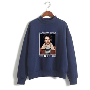 Cameron Boyce Polo Neck Casual Sweatshirt Hoodie For Youth