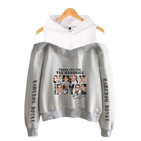 Cameron Boyce 3D Print Off Shoulder Girls Polyester Hoodie Sweatshirt