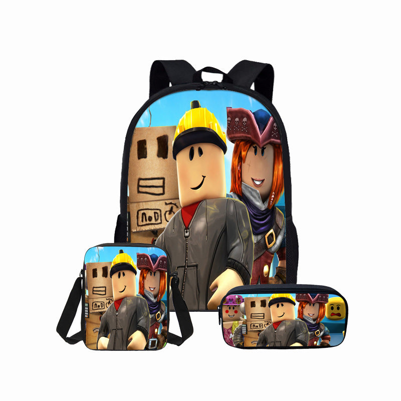 Fvip Cosmetic Makeup Pencil Pen Case Bag Roblox For Student Roblox Students Backpack 3d Print Backpack Lunch Box Bag And Pencil Ba Mosiyeef