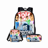 Roblox Students Backpack 3D Print Backpack Lunch Box Bag and Pencil Bag Set