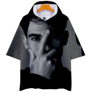 Cameron Boyce 3D Print Hooded Shirt Short Sleeve