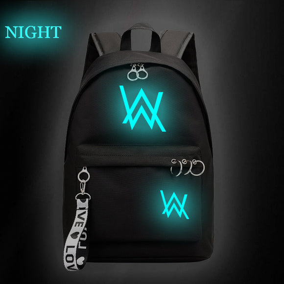 Alan Walker Teens Backpack For School Glow In The Dark