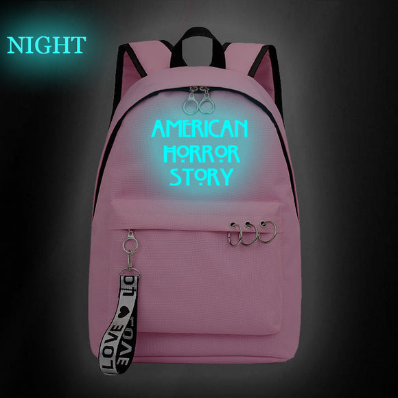 American Horror Story Students Backpack Day Bag Glow In Dark