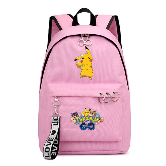 Anime Pokemon Go Students Polyester Backpack School Bookbag for Teens