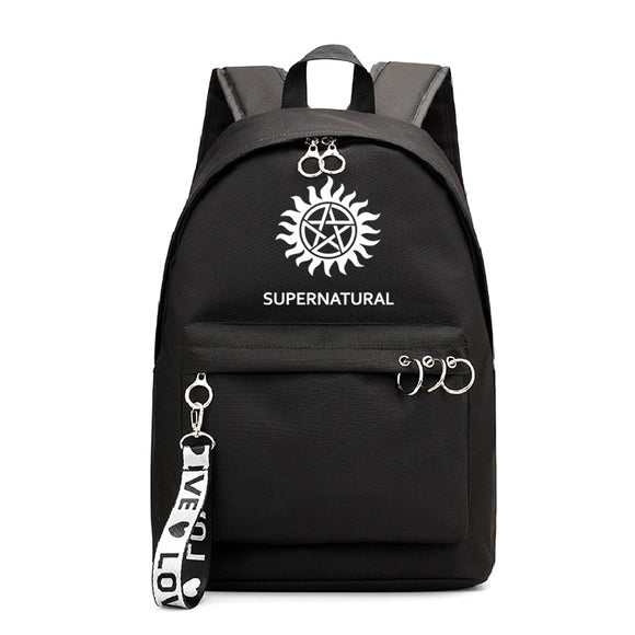 Supernatural Youth School Backpack Students Bookbags