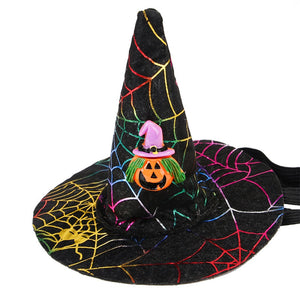 Halloween  Dog Cat Costume  Dog and Cats Wizard  Hat
