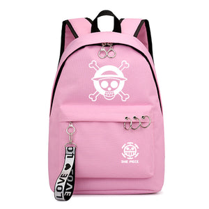 Anime ONE Piece Students Polyester Backpack Youth School Bag Bookbag