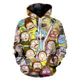 Rick and Morty 3D Print Pull Over Hoodies Casual Sweatshirt