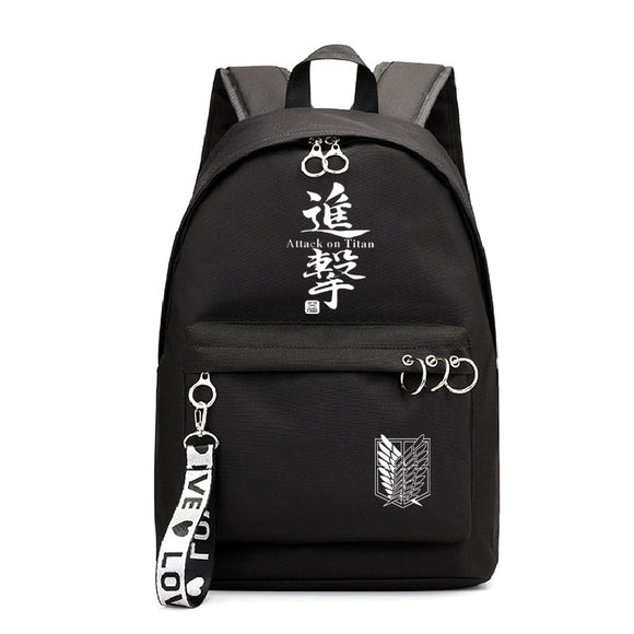 Attack on Titan Shingeki no Kyojin Teenagers Fashion School Backpack