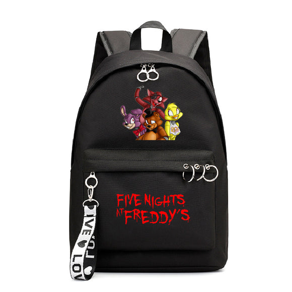 Five Nights at Freddy's School Polyester Backpack Book Bag for Kids Youth