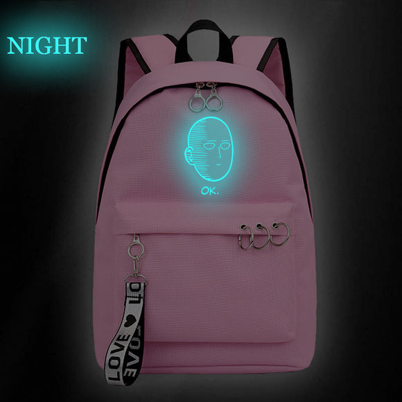 Anime Backpack One Punch Man  School Backpack Bookbag Glow In The Dark For Students