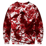 Halloween Hoodies  Red Bloody Mouth Print  Hoodies Sweatshirt Unisex