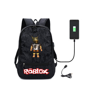 Roblox Students Backpack With USB Charging Port