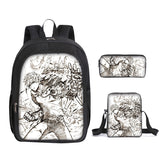 Anime Backpack One Punch Man  School Polyester Backpack With Lunch Box and Pencil Case