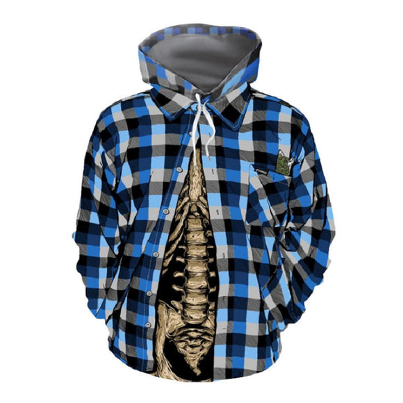 Halloween Hoodies  Fake Shirt and Skeleton Hoodies  Unisex