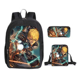 Anime Backpack One Punch Man  School Backpack With Lunch Box and Pencil Case