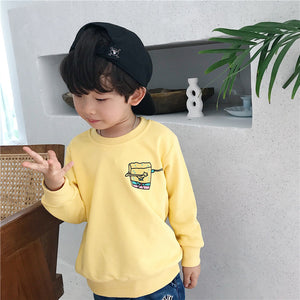 Kids Sponge Bob Long Sleeve 3D Print Hoodies Sweatshirt