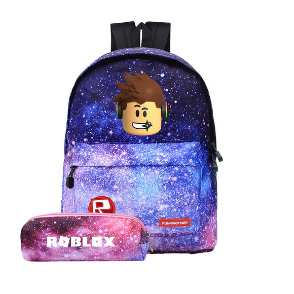 Roblox Students Backpack 3D Print Galaxy Color Backpack With Pencil Bag