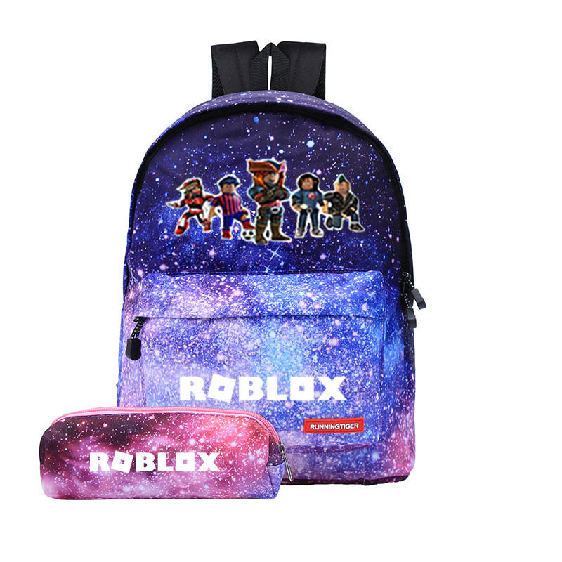 Roblox Students Backpack 3d Print Galaxy Color Backpack With