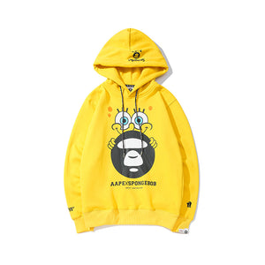 Sponge Bob 3D Print Pull Over Hooded Hoodies Sweatshirt