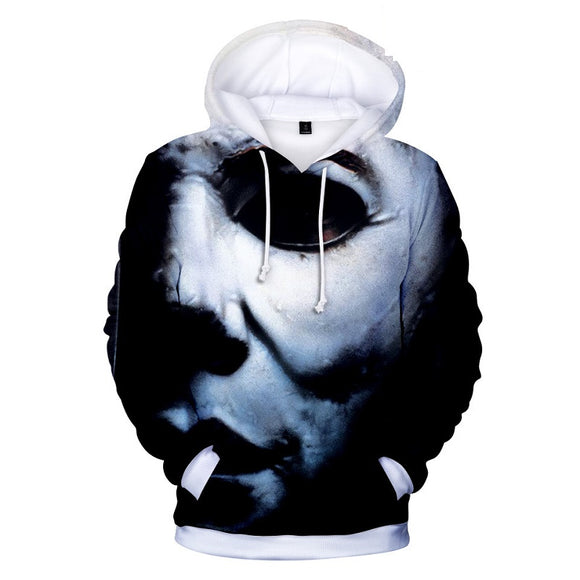 Halloween Hoodies Michael Myers Face Print  Hoodies