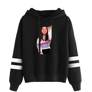 Charli D'Amelio 2D Print Hoodie Casual Sweatshirt for Girl