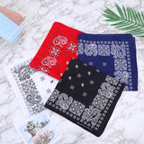 12Pcs Disposable Face Protection Bandana 100% Cotton Multi purpose Square Handkerchief Headband Wristband