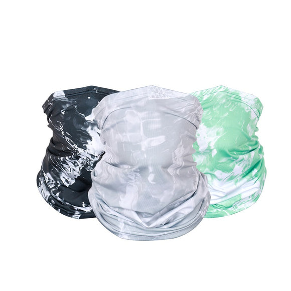 2Pcs Summer Face Bandana UV Protection Neck Gaiter Scarf Sunscreen Breathable Bandana, Seamless Face Bandanas for Dust