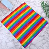 3Pcs Rainbow Print Bandana For Dust & Sun Protection,Nose Cover Scarf