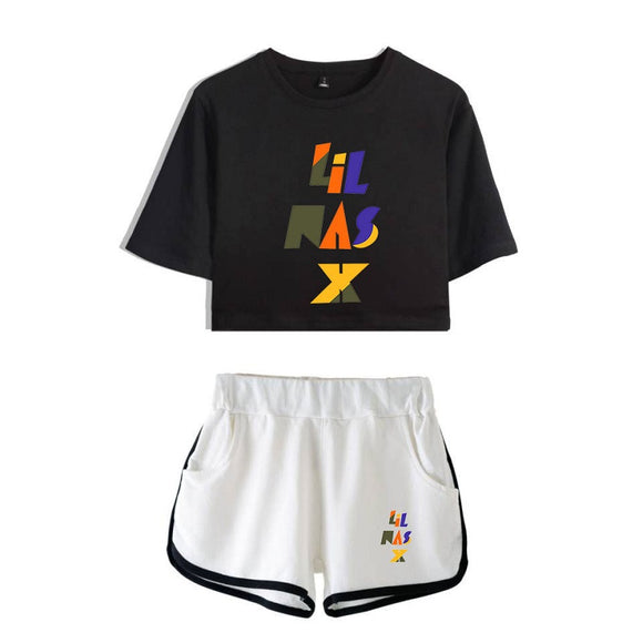 Lil Nas X Singer T-shirt And Casual Shorts Beach Shorts Suit