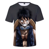 One Piece Luffy Straw Hat Shirt 3D Print Funny Anime Shirts