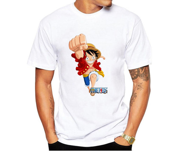Anime One Piece Shirts Funny Printed Short Sleeve Tee