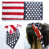 3 Pack American Print Bandana | Face Bandana for Dust & Sun Protection | Nose Cover Scarf