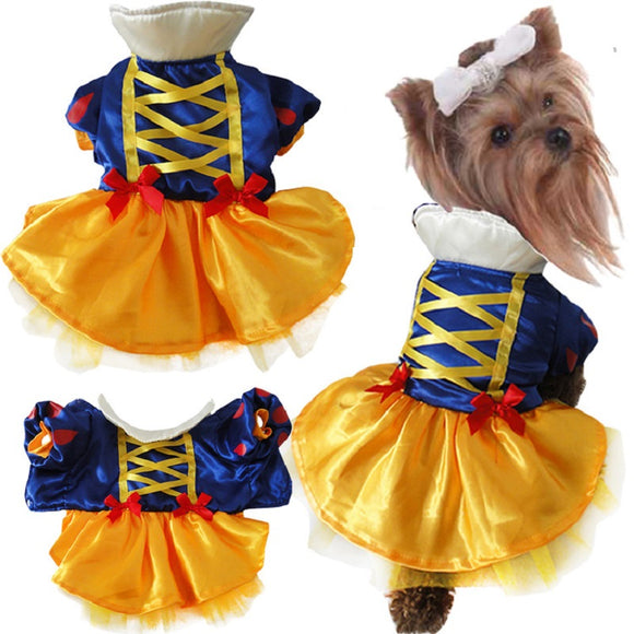 Halloween  Pet Costume Dog Cat Snow White Costume Outfits