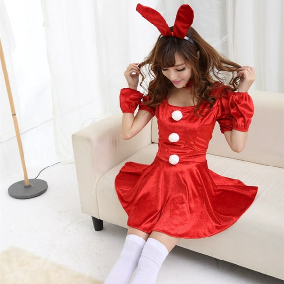 Cute Halloweeen Red Bunny Costume Cosplay Ds Costume