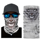 10Pcs Outdoor Tiger Print Head Scarf & Bicycle Face Bandana For Boys And Girls