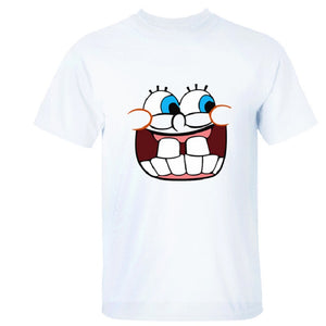 Sponge Bob Squarepants Laugh Print Short Sleeves T-shirt