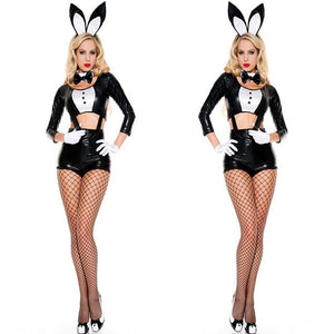 Sexy Halloween Cutout Costume Playtime Bunny Costume Set