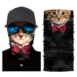 10Pcs Hot Fashion Cute Cat Print Sun Protection Face Bandana